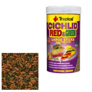 Tropical CICHLID RED & GREEN LARGE STICKS