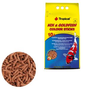 Tropical Koi & Goldfish Colour Sticks 10L/800g
