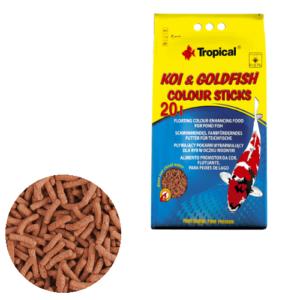 Tropical Koi & Goldfish Colour Sticks 20L/1600g