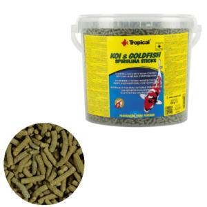 Tropical Koi & Goldfish Spirulina Sticks 11L/900g